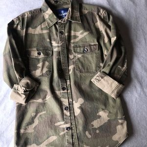 Thick Camo Button Up
